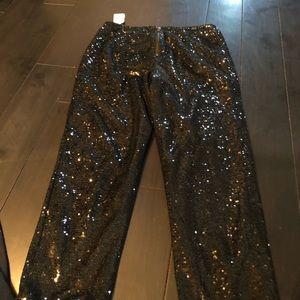 Forever 21 Pants - Black sequin pants